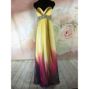 Morrell Maxie Yellow/Multi-Color Embellish Size 14
